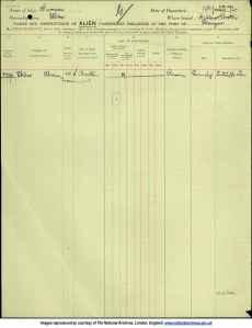 Sklar, Abram leaves Glasgow 1913