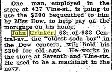 GRINKER John Cinti Post p.1 Oct 1915